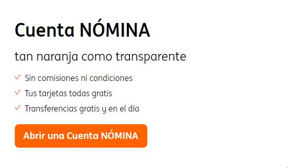cuenta nomina ing