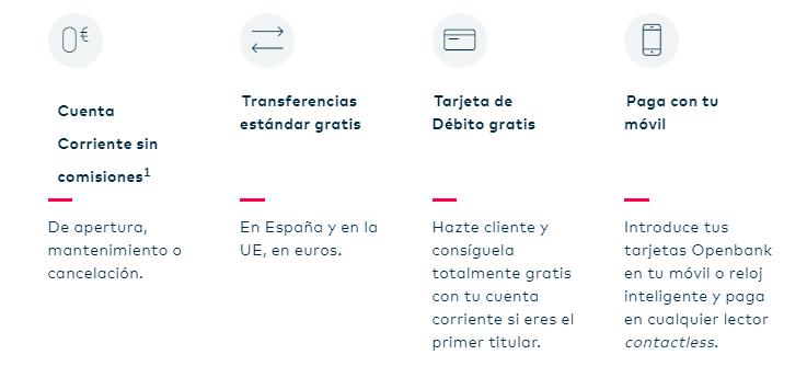 cuenta sin comisiones openbank